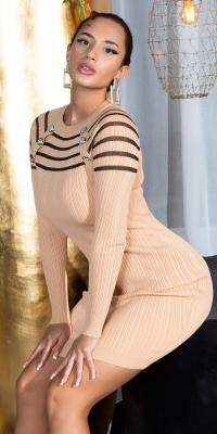 Rochii Sexy tricot cu transparent Detail