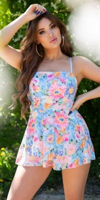 Salopete de club dama Sexy Sommer cu imprimeu floral