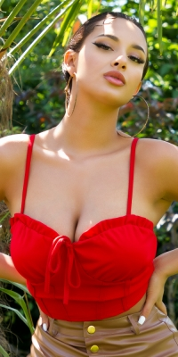 Sexy corset strap top