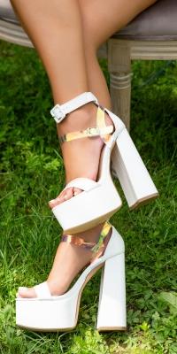 Sexy platform shoes cu toc gros