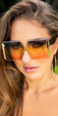 Sexy Rectangular de vara glasses