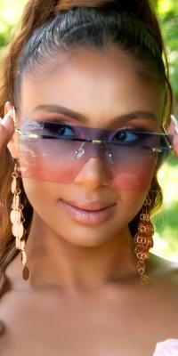 sexy Rectangular Rimless Sunglasses