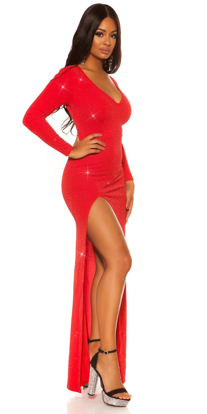 sexy RedCarpet cu sclipici Kleid w. leg slit
