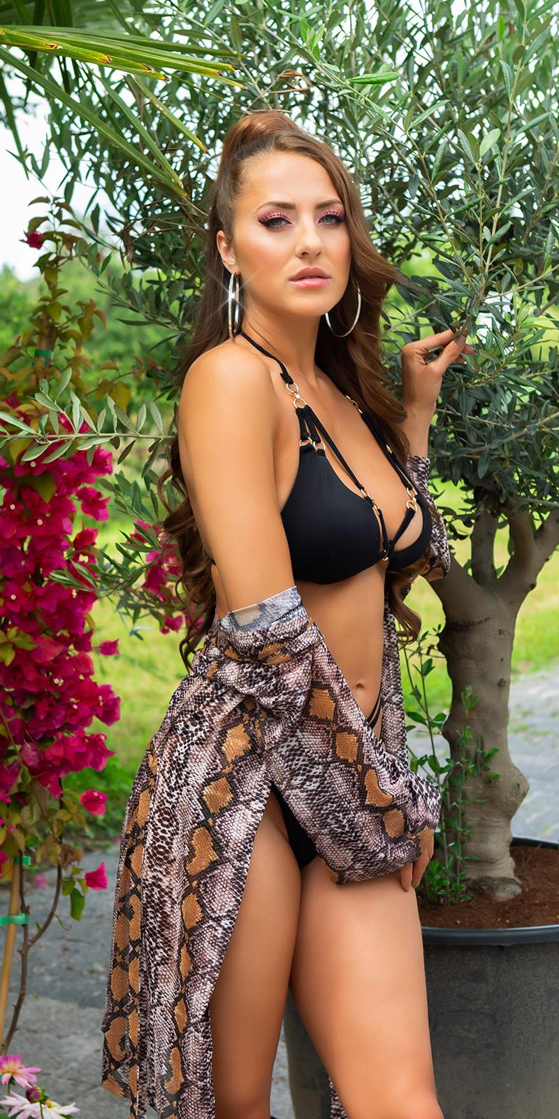 sexy maneca lunga cover-up cu curea
