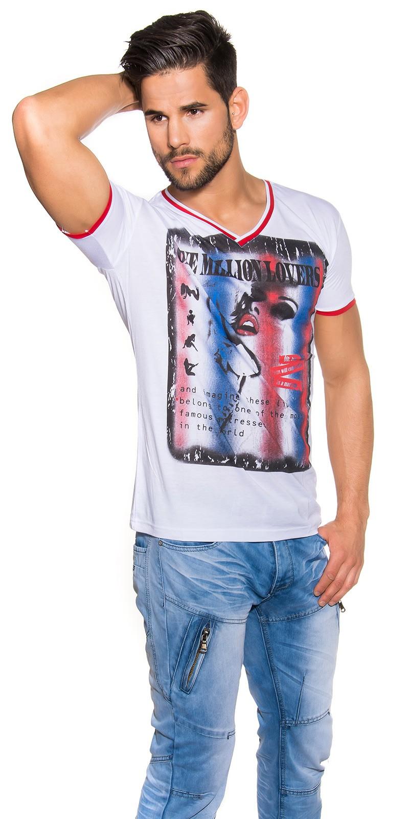 la moda cu decolteu in v Shirt One Million Lovers