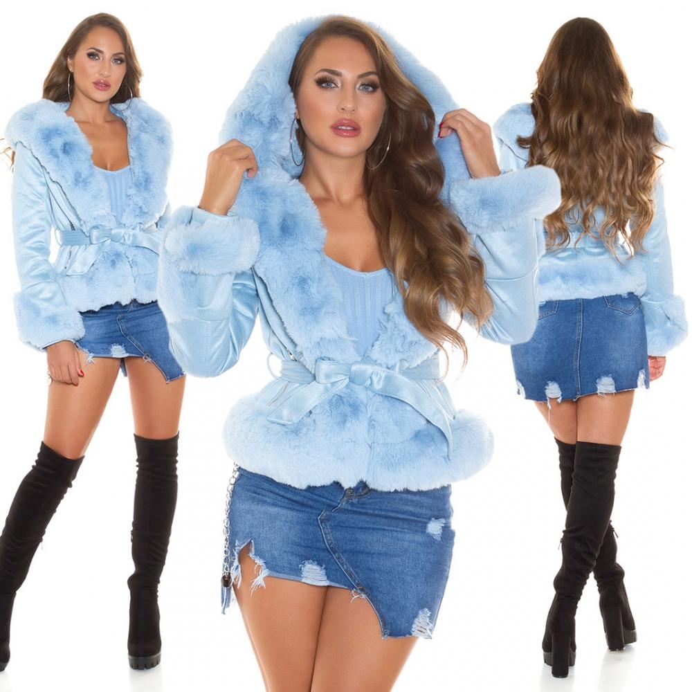 Jachete dama cu blana artificiala Sexy Cozy Winter