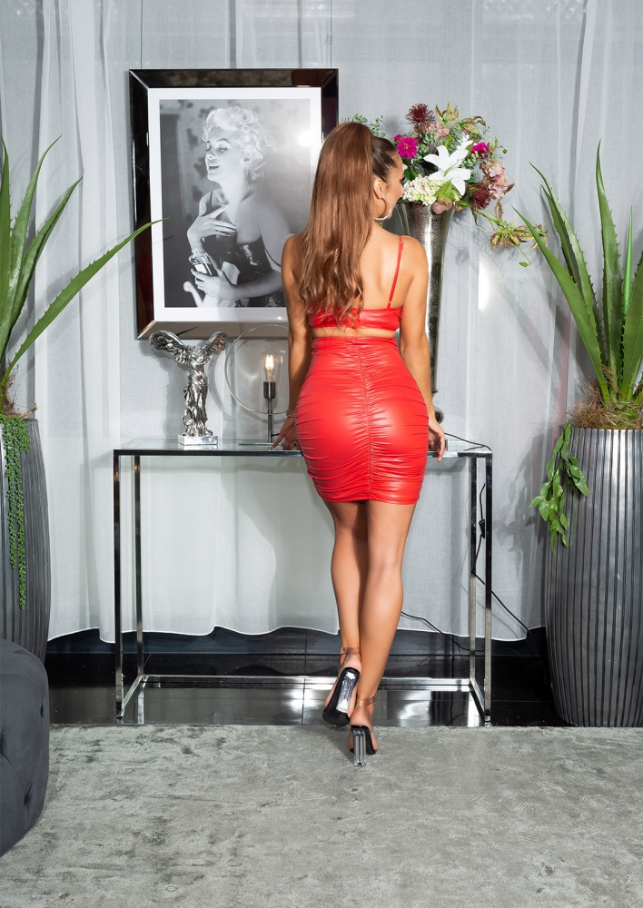 Topuri cu buricul gol sexy aspect lucios /Bustier